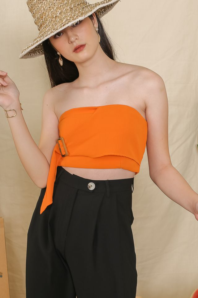 BELLA BUCKLE-TUBE TOP (ORANGE)