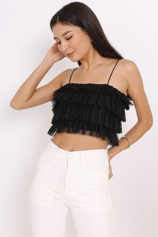 TUTU TULLE TOP (BLACK)