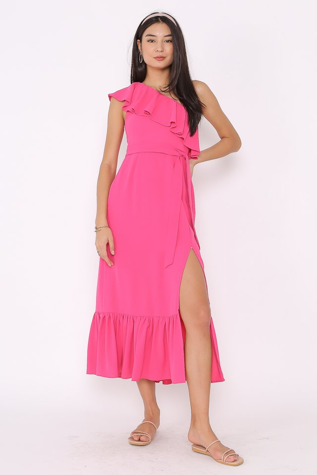 TABITHA TOGA MAXI DRESS (FUCHSIA)
