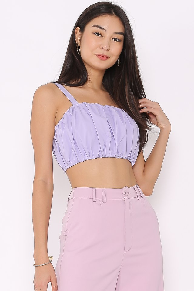 RENA RUCHED TOP (LILAC)