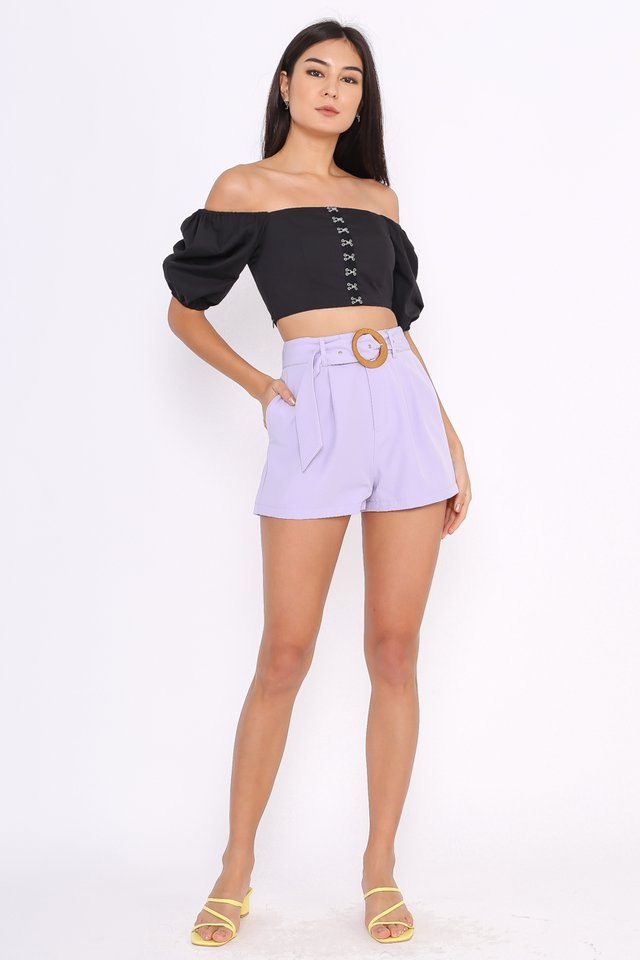 BREE BUCKLE SHORTS (LILAC)