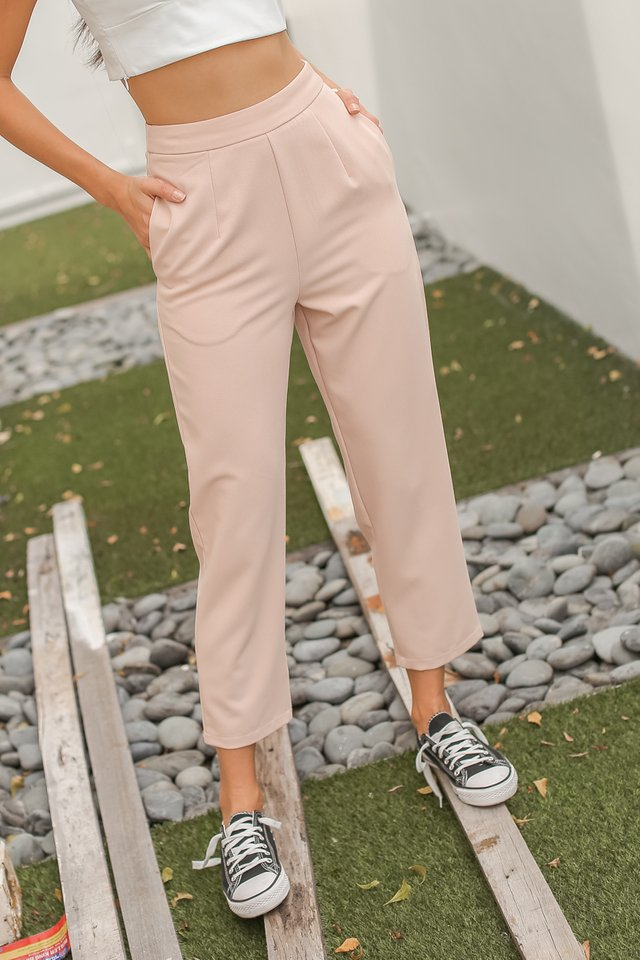 PHYLLIS PEG LEG PANTS (BLUSH PINK)
