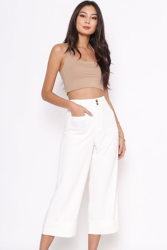 DELIA DOUBLE BUTTON PANTS (WHITE)