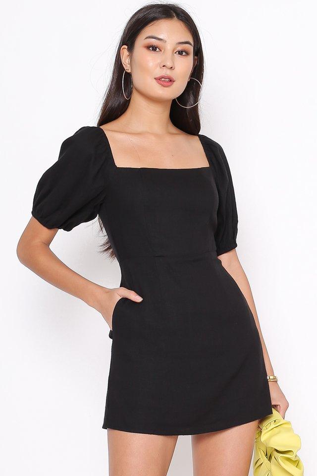 LANY SKORTS MINI DRESS (BLACK)