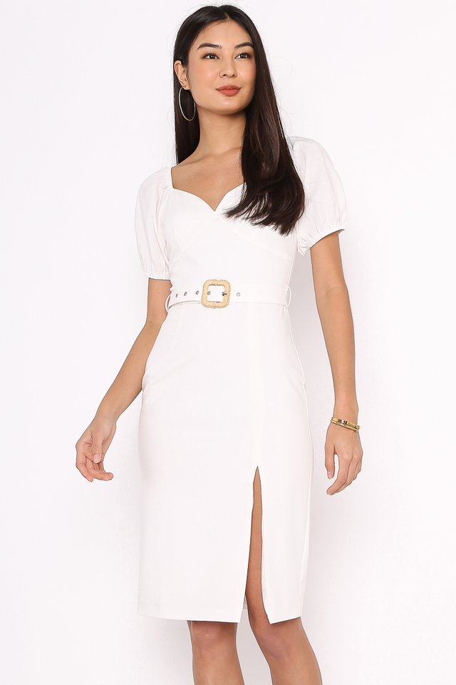SABRINA SWEETHEART DRESS (WHITE)