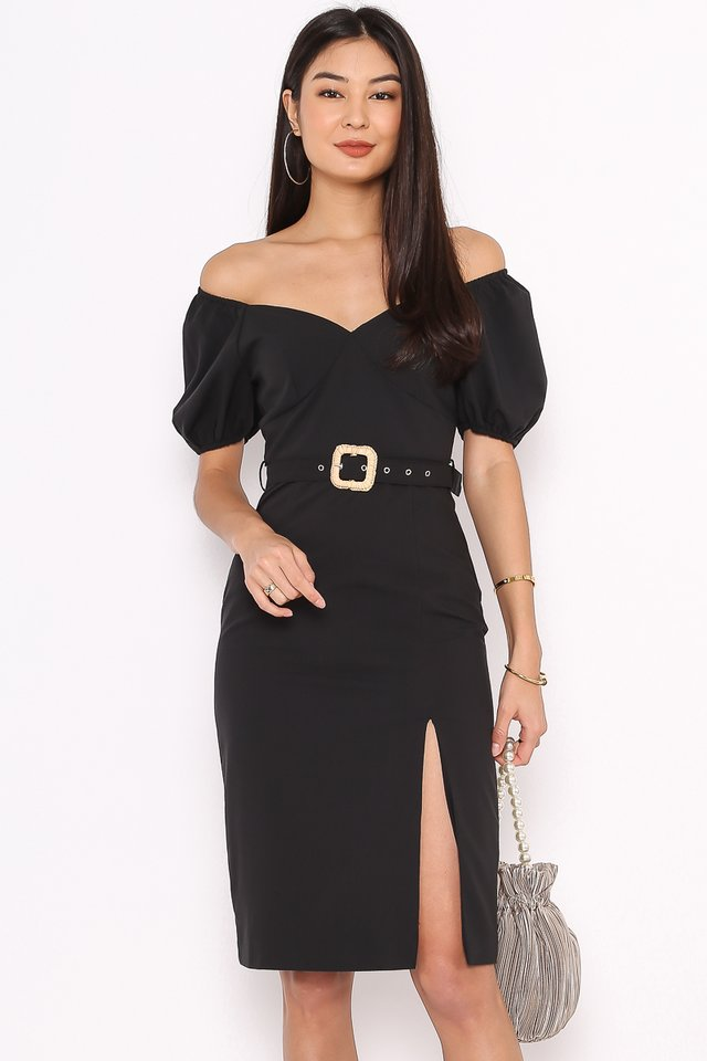 SABRINA SWEETHEART DRESS (BLACK)