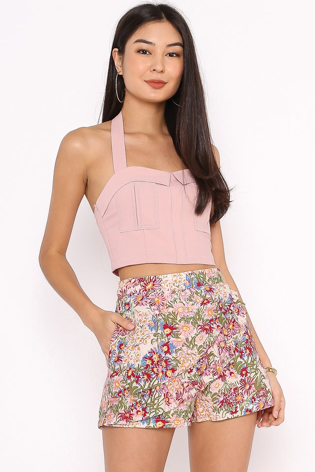 KIM HALTER TOP (POWDER PINK)