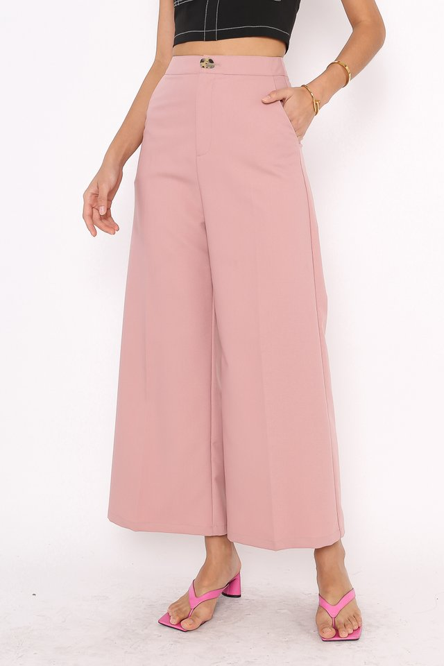 IRIS IRREGULAR BUTTON PANTS (DUSTY PINK)
