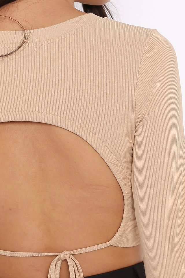 OLLIE OPEN BACK TOP (SANDSTONE NUDE)