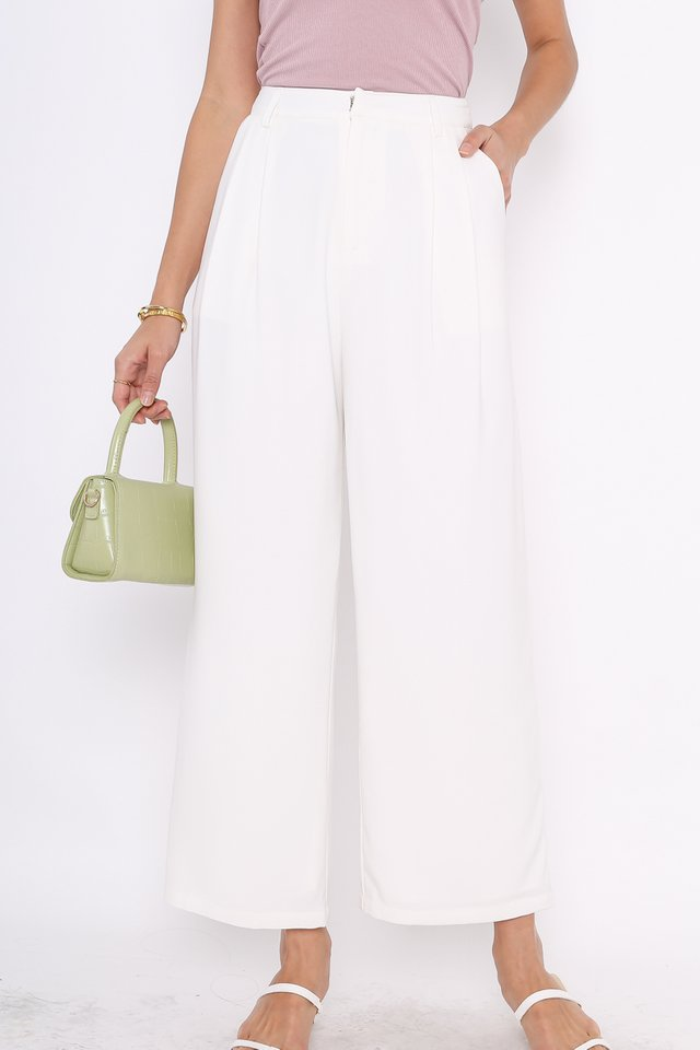 SHANTELLE STRAIGHT LEG PANTS (WHITE)