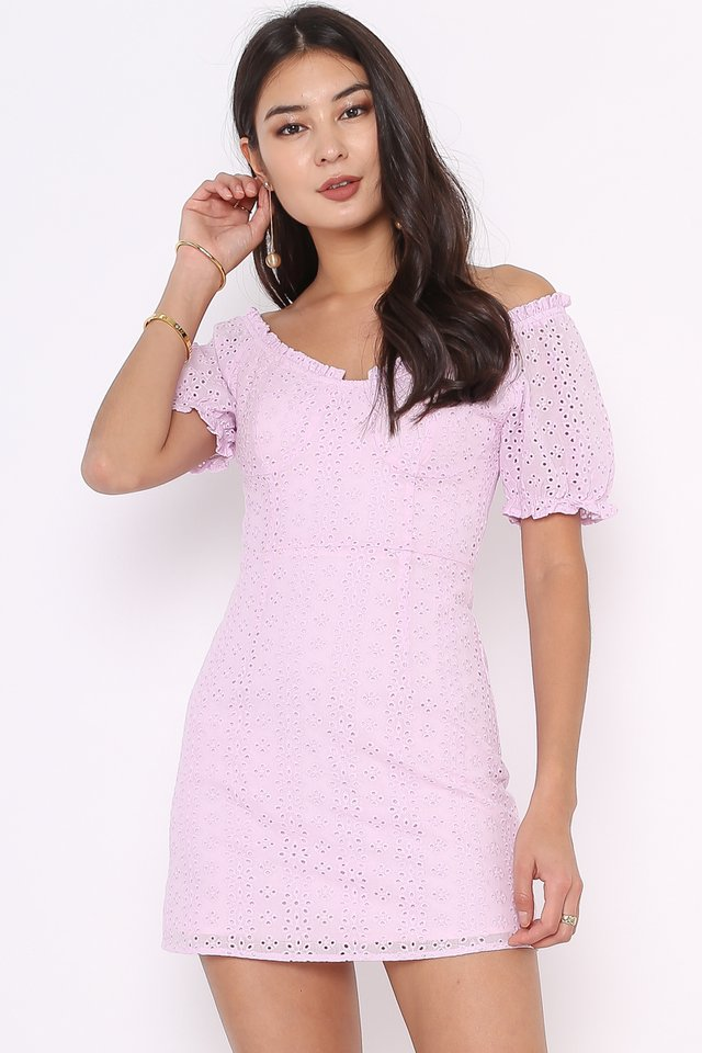 CALLIE CROCHET DRESS (LILAC)