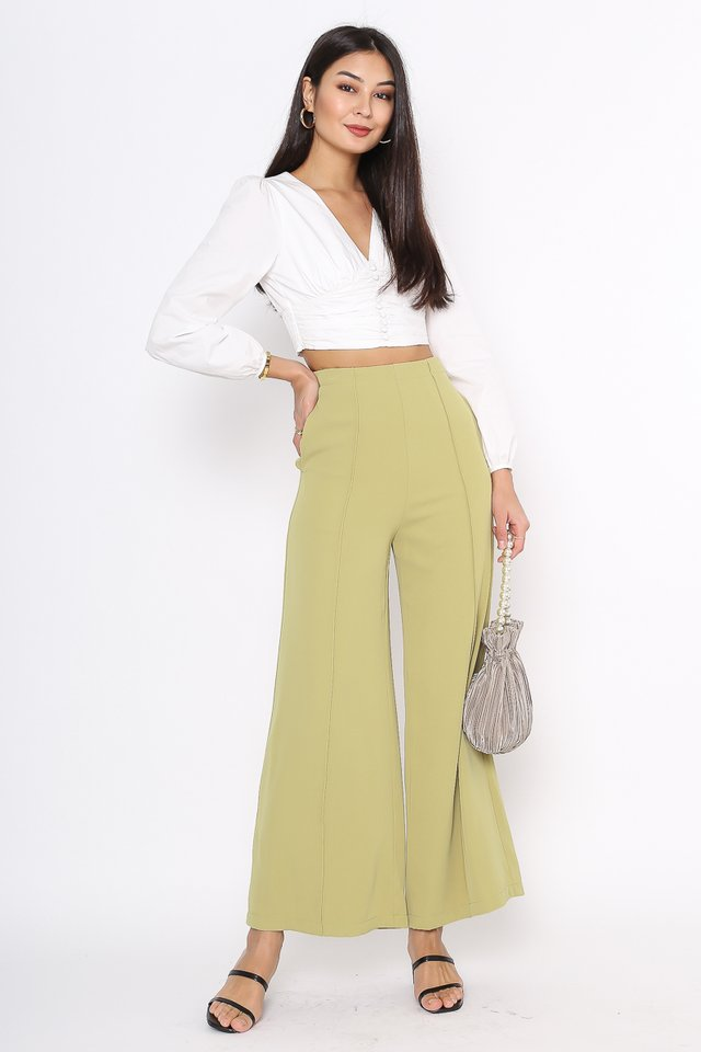 PRESLEY PANELLED PANTS (PISTACHIO GREEN)