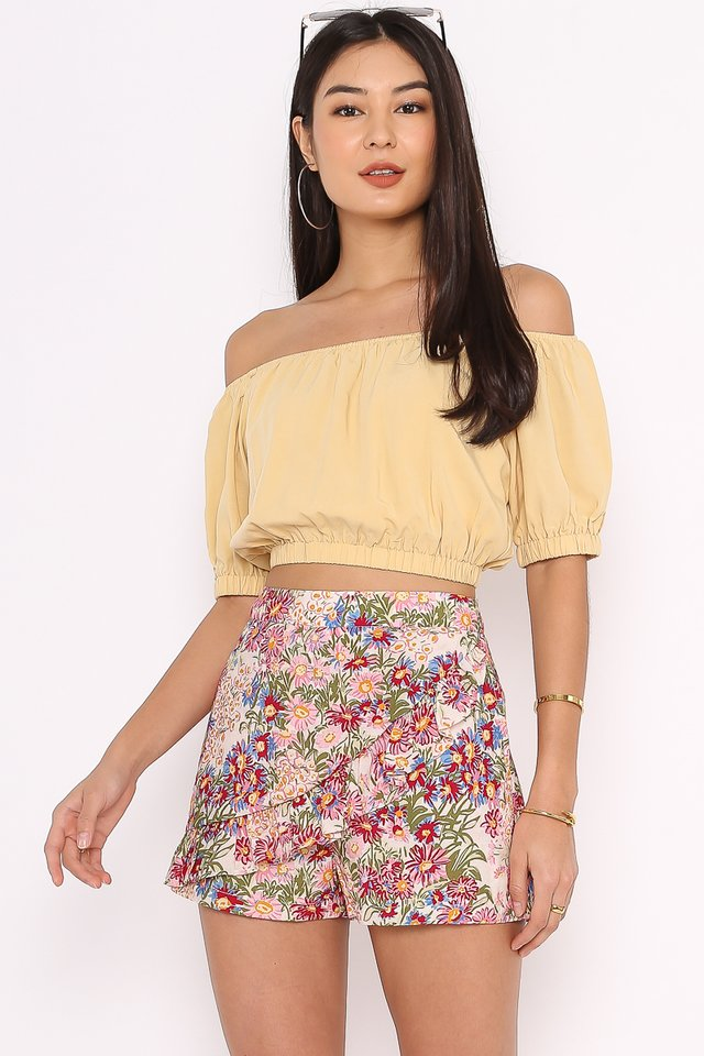 OZZIE OFF SHOULDER TOP (MELLOW YELLOW)