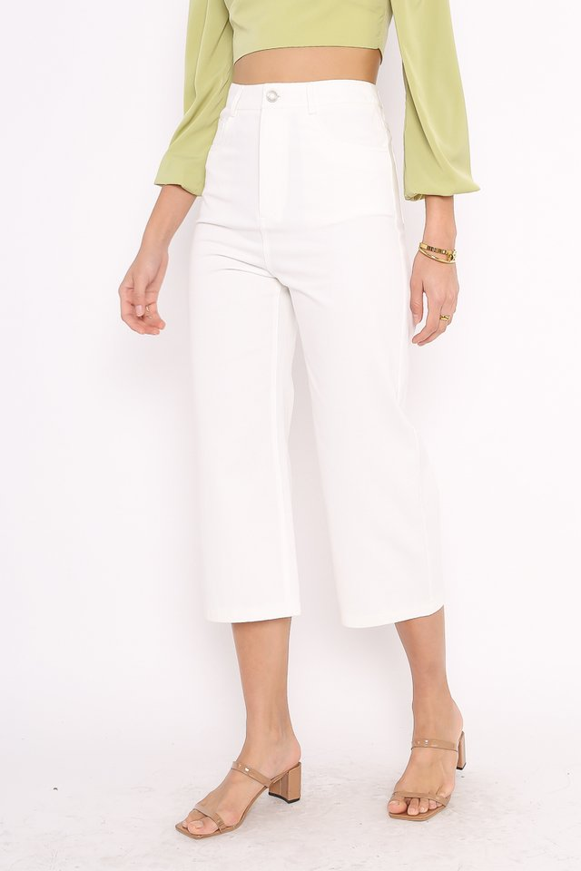 CODY CROPPED JEANS (WHITE)