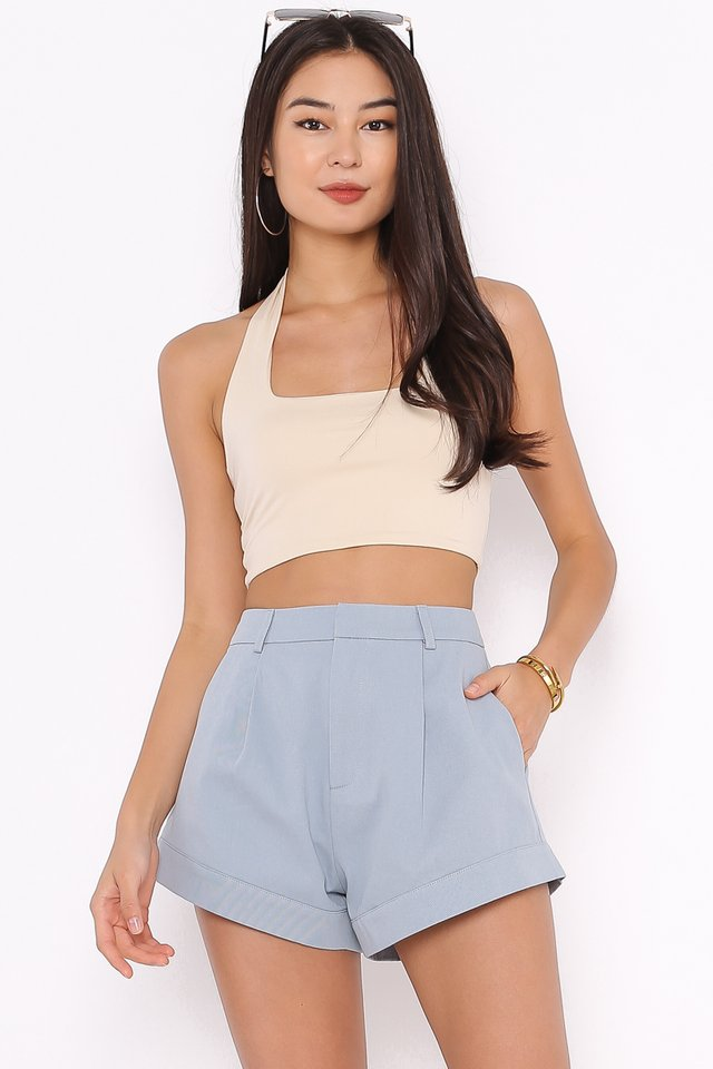 *BACKORDER* HILTON HALTER TOP (MILK TEA)