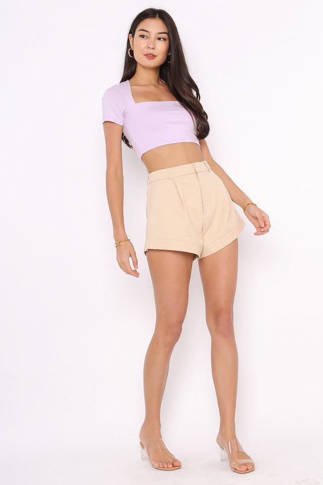 *BACKORDER* CLAUDIE CUT-IN TOP (LILAC)