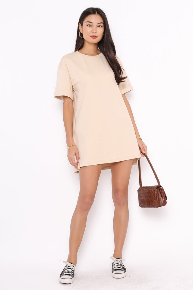 *BACKORDER* CASSIE SHIRT DRESS (MILK TEA)