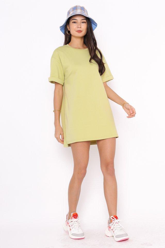 CASSIE SHIRT DRESS (AVOCADO GREEN)