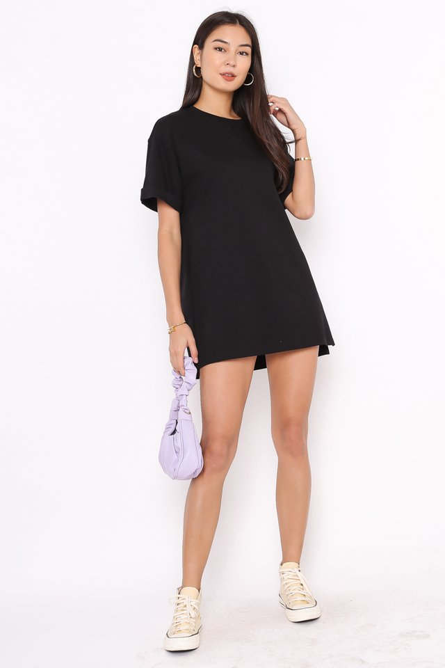 *BACKORDER* CASSIE SHIRT DRESS (BLACK)