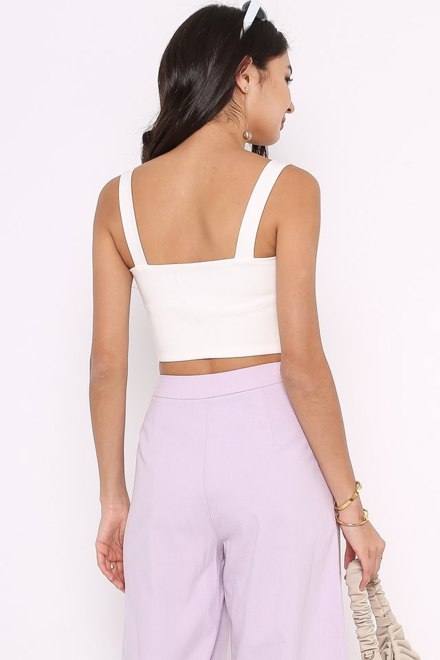 SYDNEY STRAIGHT CUT BRALET (WHITE)