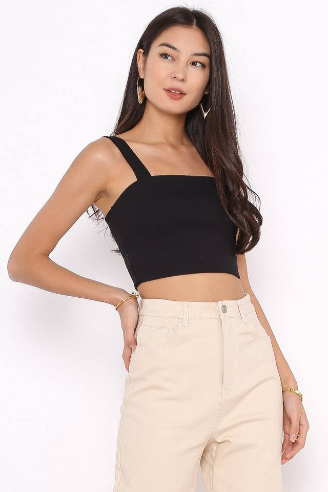 SYDNEY STRAIGHT CUT BRALET (BLACK)