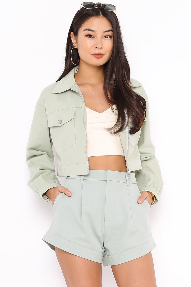RANDY RING ZIP JACKET (PASTEL MINT)