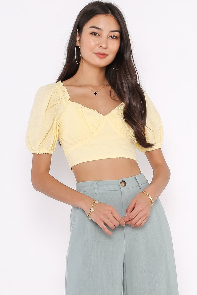 SUZIE SWISSDOT TOP (SUNSHINE YELLOW)