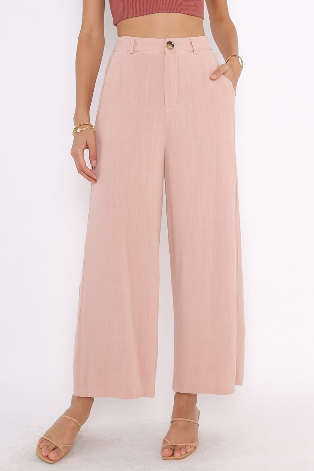 LLOYD LINEN PANTS (LIGHT STRAWBERRY PINK)