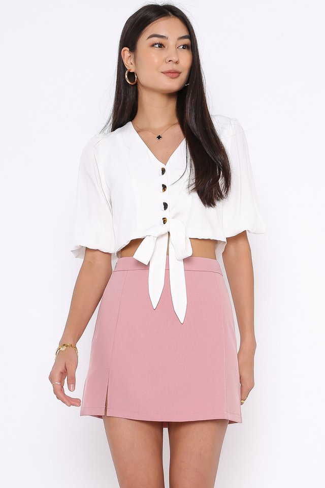 BELLA BUTTON DOWN TOP (WHITE)