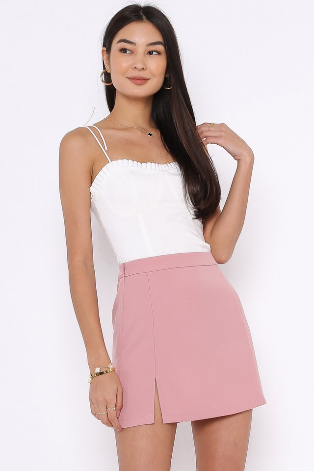 FRANCESCA FRILL TOP (WHITE)
