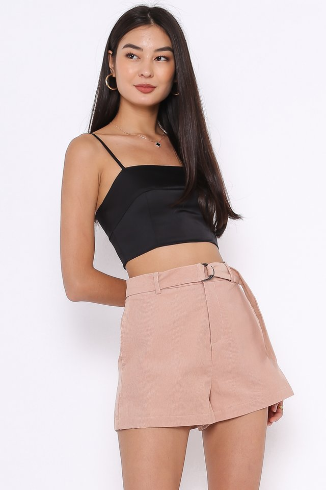 CATHLEEN CORDUROY SHORTS (PALE PINK)