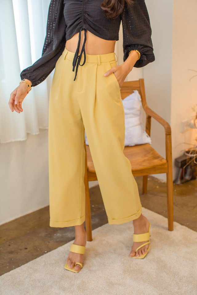 CALUM CUFFED PANTS (BUTTER YELLOW)