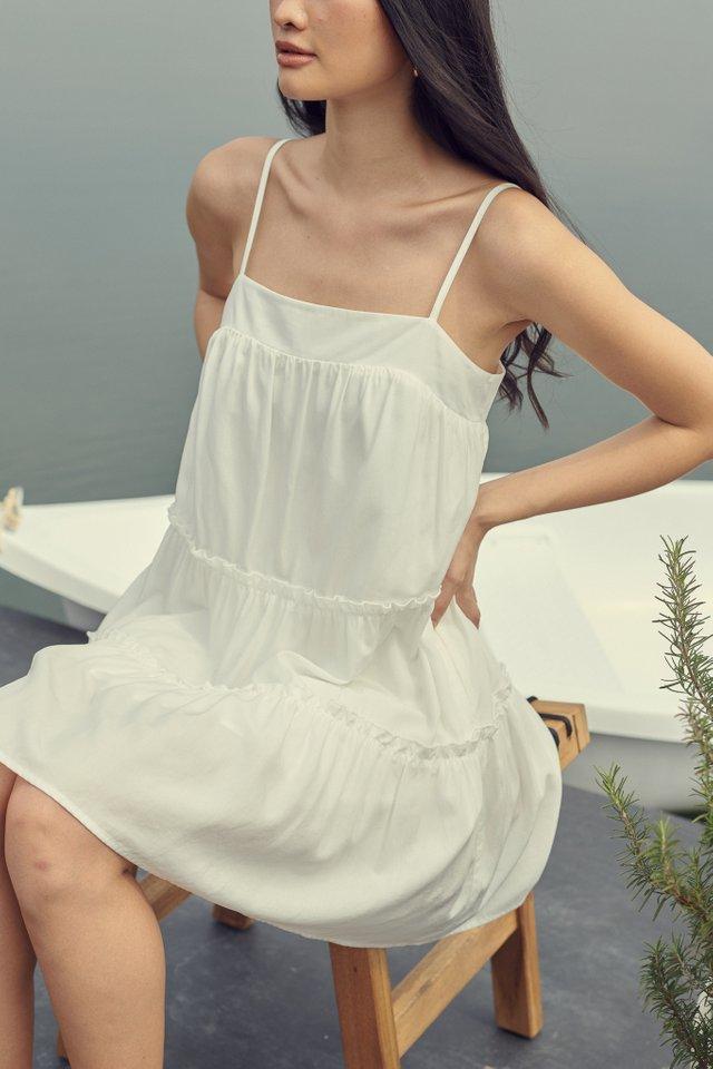 BERNICE BABYDOLL DRESS (WHITE)