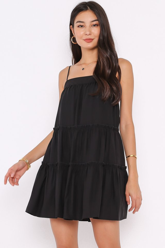 BERNICE BABYDOLL DRESS (BLACK)