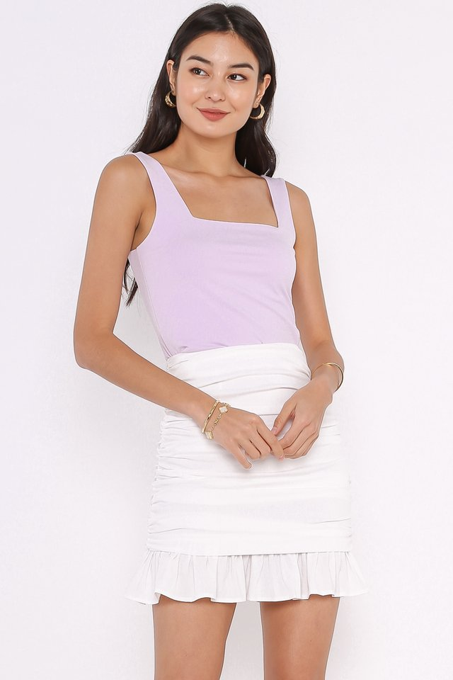 SANDY SQUARE NECK TOP (LILAC)