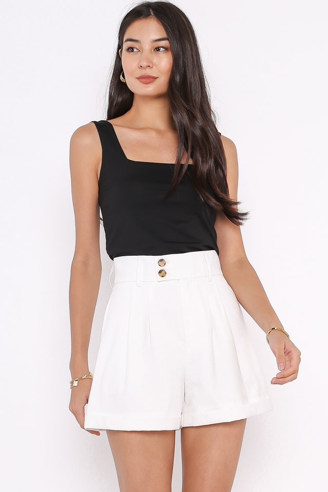 SANDY SQUARE NECK TOP (BLACK)