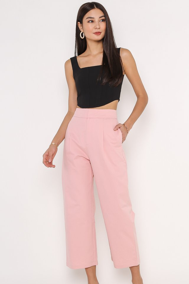 SANDRA STRUCTURED PANTS (ROSEWATER PINK)