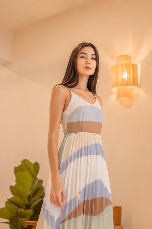 ABIGAIL ABSTRACT DRESS (BLUE)