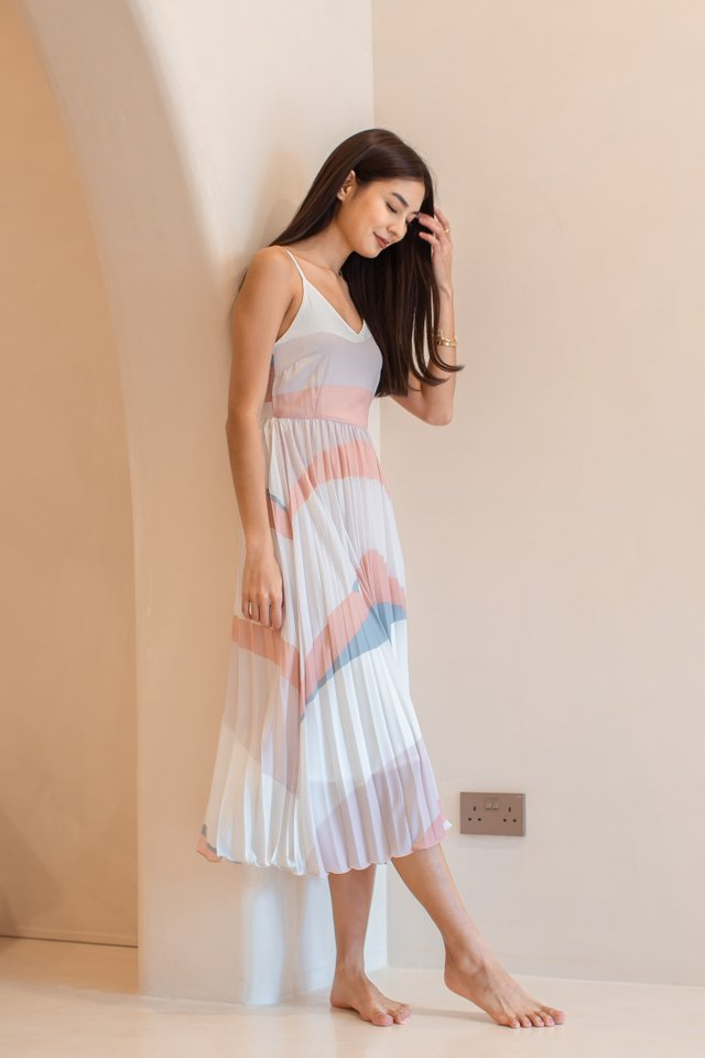 ABIGAIL ABSTRACT DRESS (PINK)
