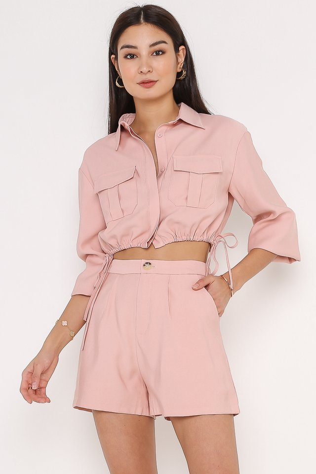 DANIELLE DOUBLE POCKET TOP (STRAWBERRY PINK)