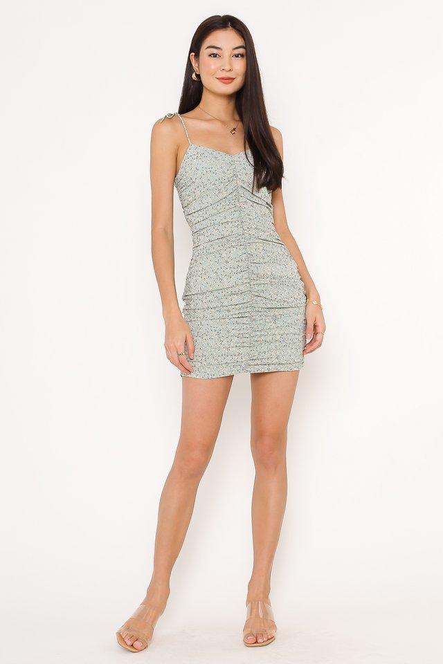 FLORENCE FLORAL DRESS (LIGHT SAGE)