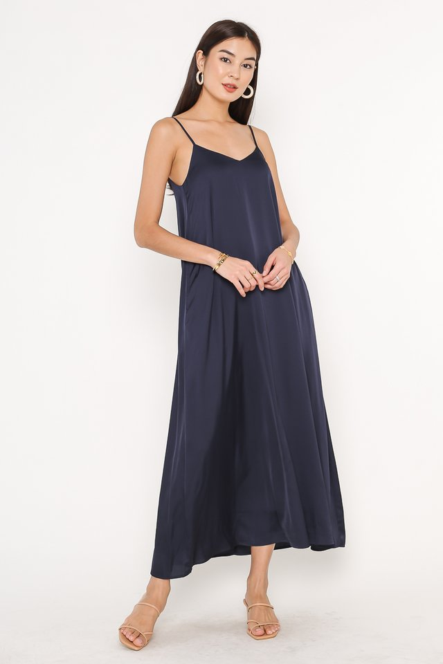 SHEILA SATIN SLIP MAXI (MIDNIGHT BLUE)