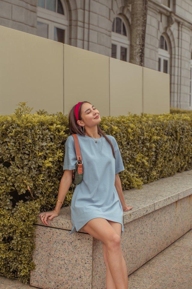 CASSIE SHIRT DRESS (LIGHT STEEL BLUE)