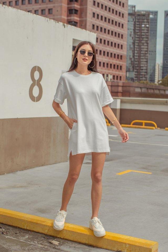 CASSIE SHIRT DRESS (WHITE)