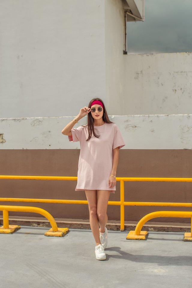 CASSIE SHIRT DRESS (CANDY PINK)