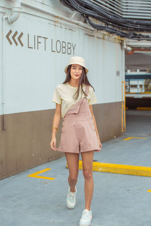 CAITLIN CORDUROY OVERALLS (PALE PINK)