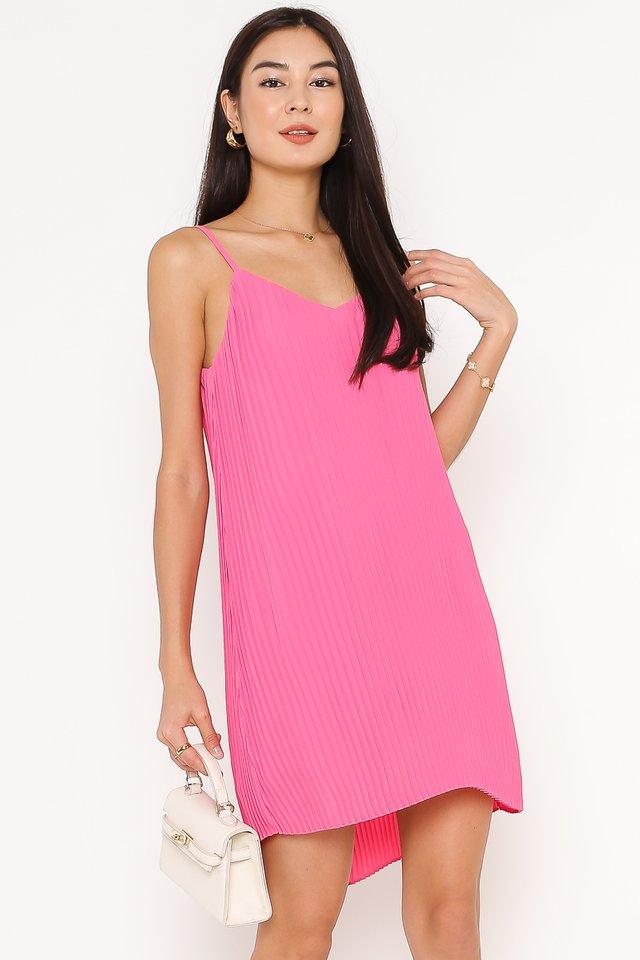 PENNY PLEATED DRESS (BARBIE PINK)