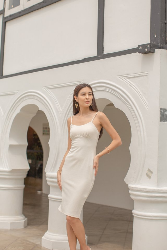 KENDRA KNIT DRESS (CREAM)