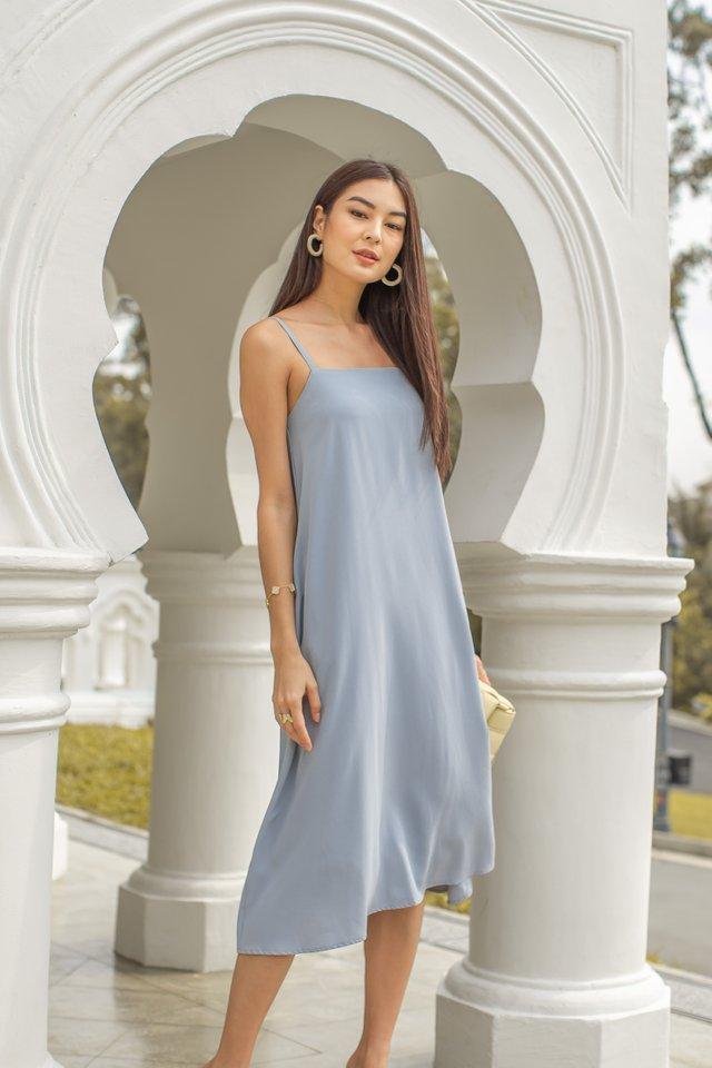 TALLULA TENT DRESS (DOVE BLUE)