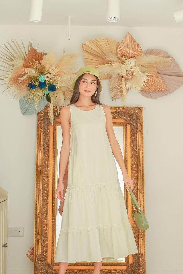 TRICIA TIERED MAXI DRESS (CREAM)